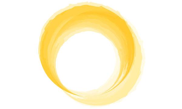 Yellow circle watercolor
