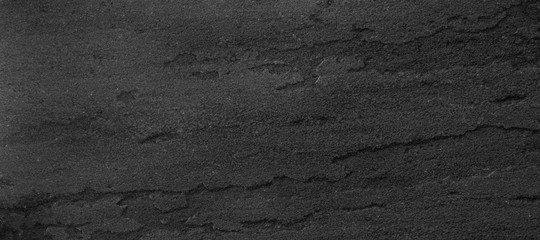 Panorama black slate background or texture.
