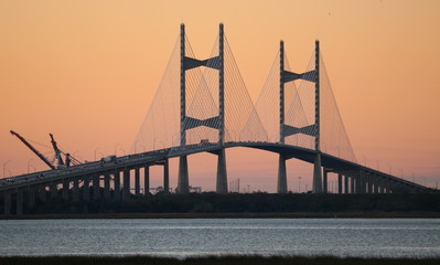 Dames Point Bridge at dusk #1, Jacksonville, Florida