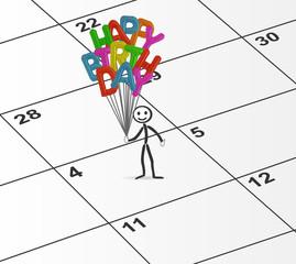 happy birthday balloons celebrations plan day 4th