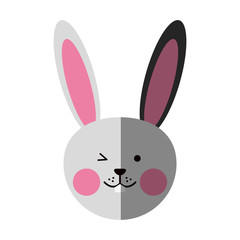 cute rabbit or bunny icon image