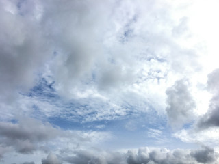 Could and blue sky in rainy season