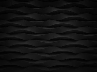 abstract black tear bend object background pattern 3d render