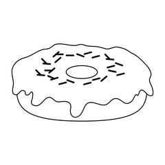 donut with sprinkles pastry icon image