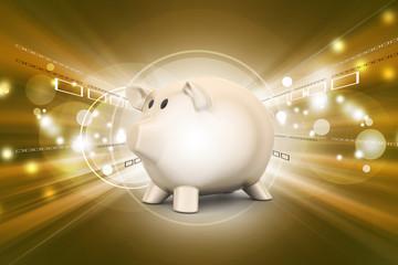 pink piggy bank, investment concept