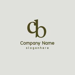 Letter CB element logo template
