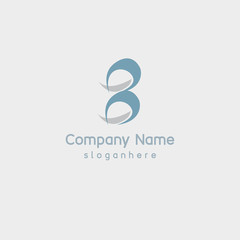 Simplify number eight element logo template