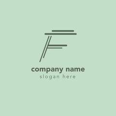 Letter F element logo design