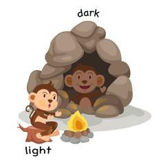 Opposite light and dark illustration
