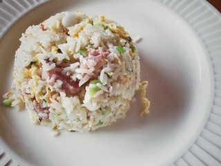 Fried rice with fermented pork.