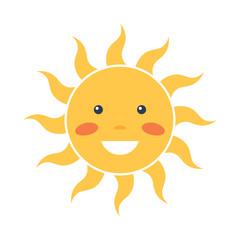 Happy sun icon