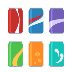 Icon set soda cans