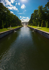 Water channel in Peterhof.