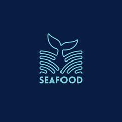Seafood outline logo