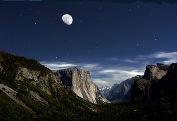 Yosemite by moonlight