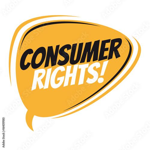 speech on consumer rights