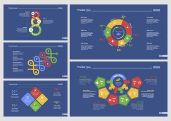 Five Workflow Slide Templates Set