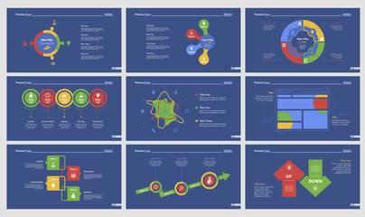 Nine Teamwork Slide Templates Set
