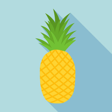 pineapple icon with long shadow