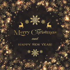 Merry Christmas and Happy New Year backgroundm