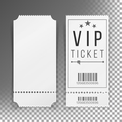 Ticket Template Set Vector. Blank Theater, Cinema, Train, Football Tickets Coupons. Isolated On Transparent Background