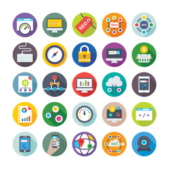 Seo and Digital Marketing Vector Icons 3