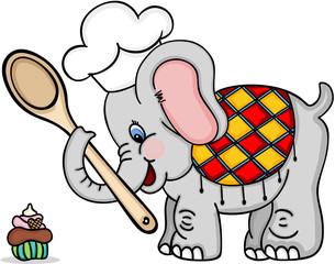 Chef cook elephant
