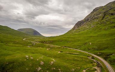 The Scottish Highlands and the Aonach Eagach Ridge, Scotland