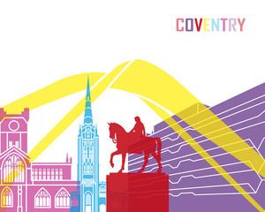 Fototapete - Coventry skyline pop