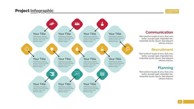 Eleven Points Diagram Slide Template