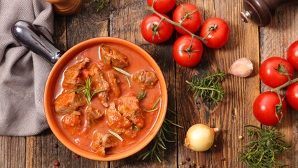beef stew with tomato,goulash