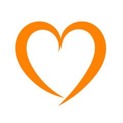 Red heart icon logo illustration
