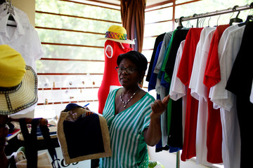 Caridad Limonta shows her atelier and recycling store in Havana