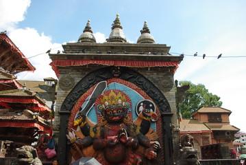 Wall Murals Nepal Views of the Monkey Temple in Kathmandu, Nepal