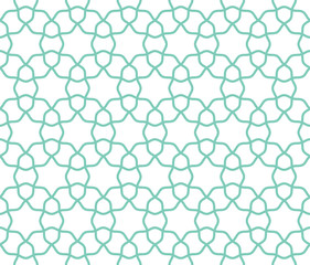 Arabic lattice geometric seamless pattern