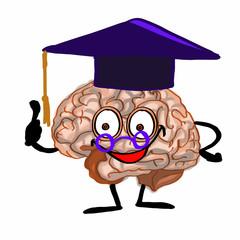 cute Brain wearing cap