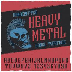 Heavy Metal Label Typeface Poster