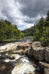 Monument Falls on the Ausable River in the Adirondack Mountains