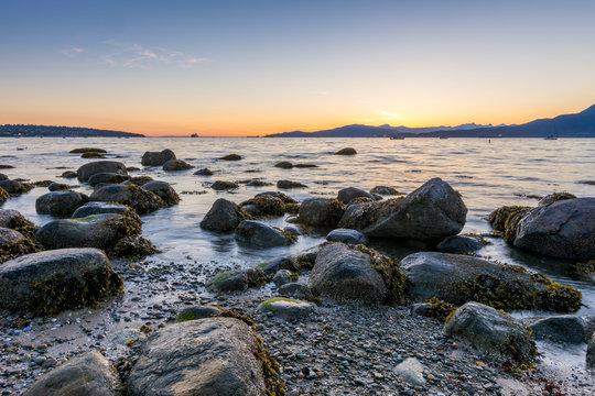 Sunset at Kitsilano Beach, Vancouver Canada
