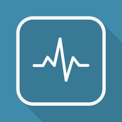App Button mit Schatten - Herzschlag Diagramm