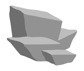 stone heap vector symbol icon design.
