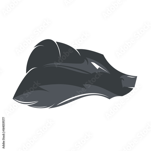 wolf head mockup template animal symbol logo emblem or sticker