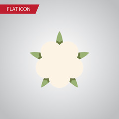 Isolated Flower Flat Icon. Bud Vector Element Can Be Used For Flower, Cotton, Bud Design Concept.