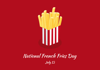 National French Fries Day vector. French fries vector. Important day