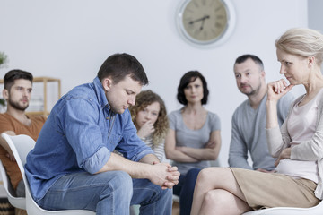 Confession during support group
