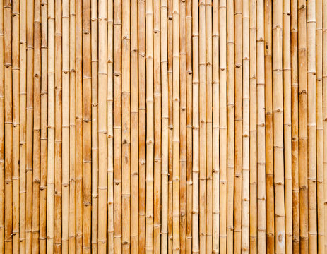 old bamboo plank fence texture for background