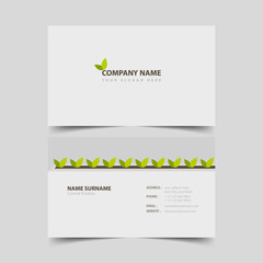 Gardener business card design template.