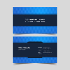 Business card design template.