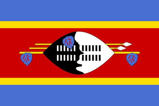 Swaziland flag. National current flag, government and geography emblem. Flat style vector illustration