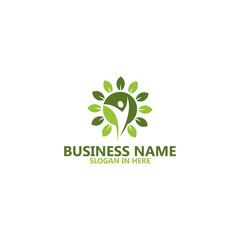 Leaf Life Logo Template Design